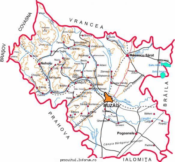 Harta Judetul Buzau Buzau